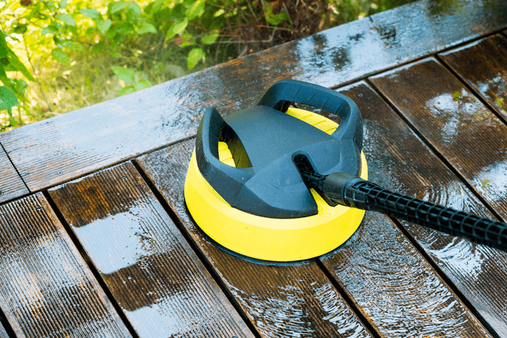 Surface cleaners are a popular pressure washer attachment, especially when cleaning wooden decks