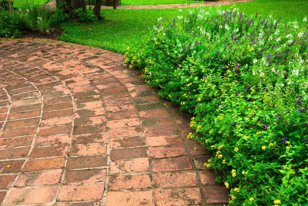 Brick floors are not easily damaged. That is why they are a popular choice for garden pathways and driveways