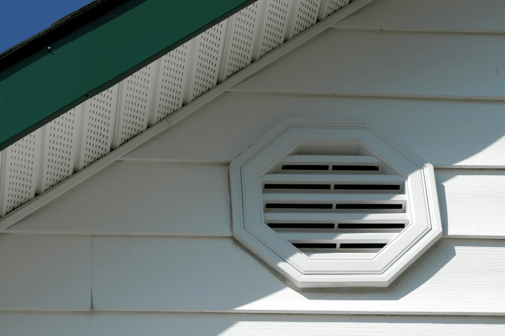 Soffit vents are very helpful in bringing in fresh air from the outside to prevent the growth of mold and mildew inside the roof or attic