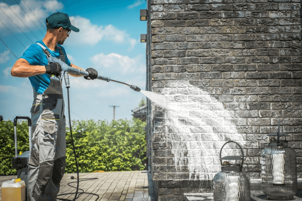 how to use a pressure washer with detergent