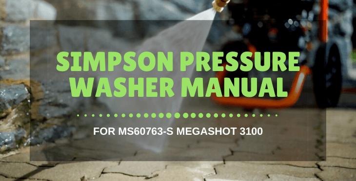 Simpson Pressure Washer Manual